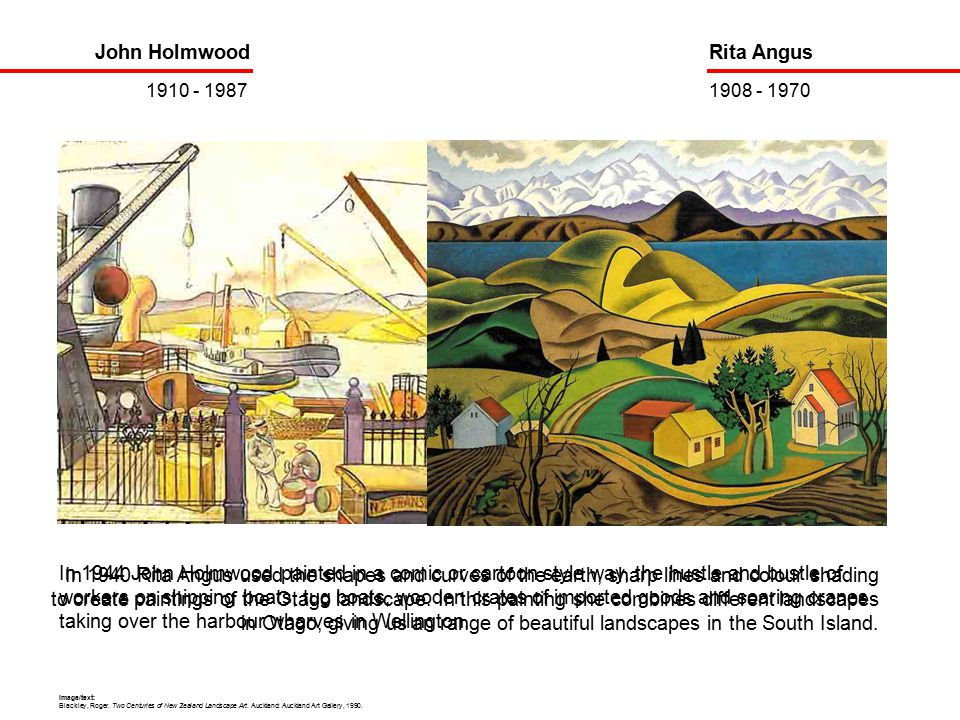 In 1944 John Holmwood painted in a comic or cartoon style way, the hustle and bustle of workers on shipping boats, tug boats, wooden crates of imported goods and soaring cranes taking over the harbour wharves in Wellington.