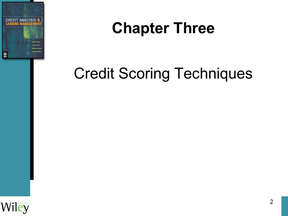 2 Chapter Three Credit Scoring Techniques