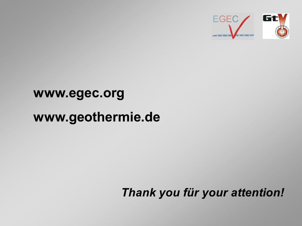 Thank you für your attention! www.egec.org www.geothermie.de