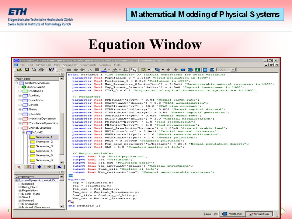 Start Presentation December 20, 2012 Equation Window