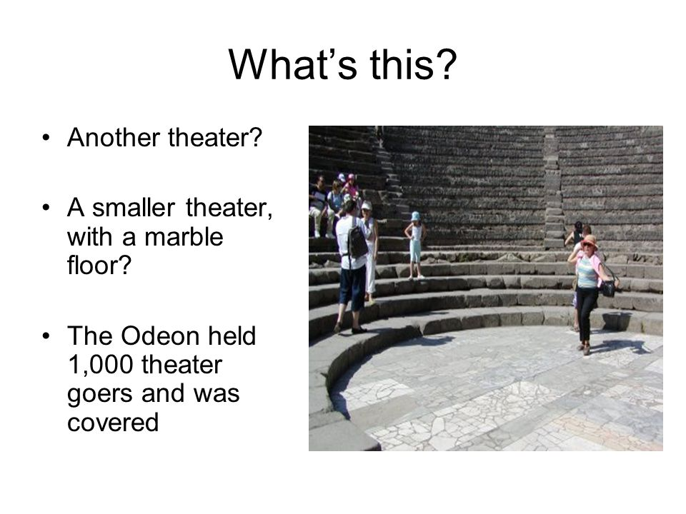 What's this.Another theater. A smaller theater, with a marble floor.
