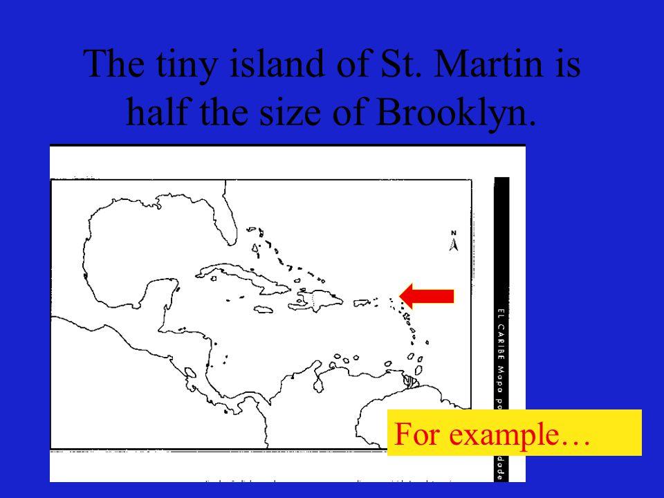 La pequeña isla de San Martín es la mitad del tamaño de Brooklyn. Por ejemplo…