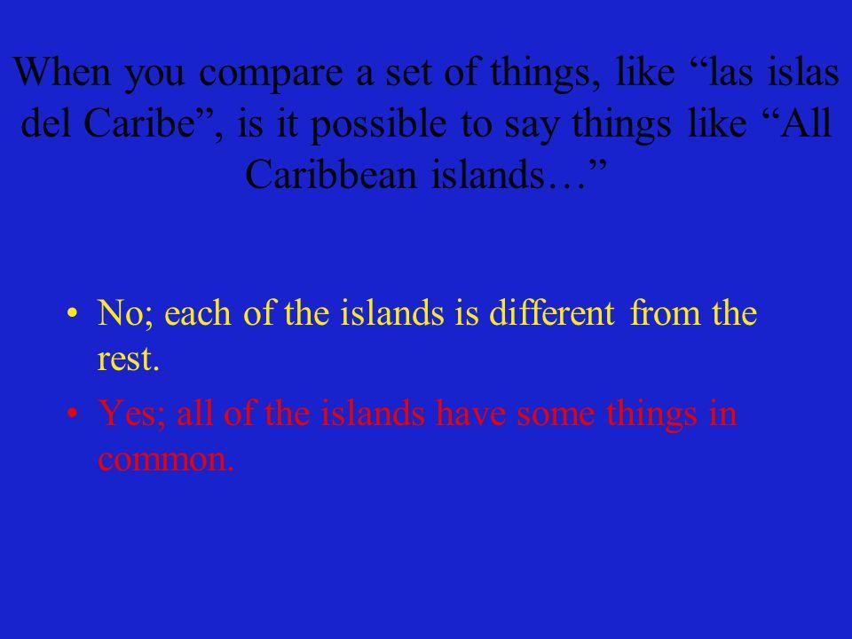 En cada una de las islas, uno puede encontrar ciudades… On each of the islands, one can find cities… …y campo.
