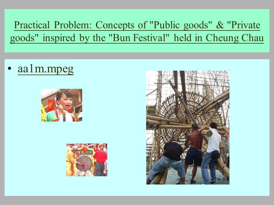 2005 年 5 月 18 日 Practical Problem: Concepts of Public goods & Private goods inspired by the Bun Festival held in Cheung Chau aa1m.mpeg