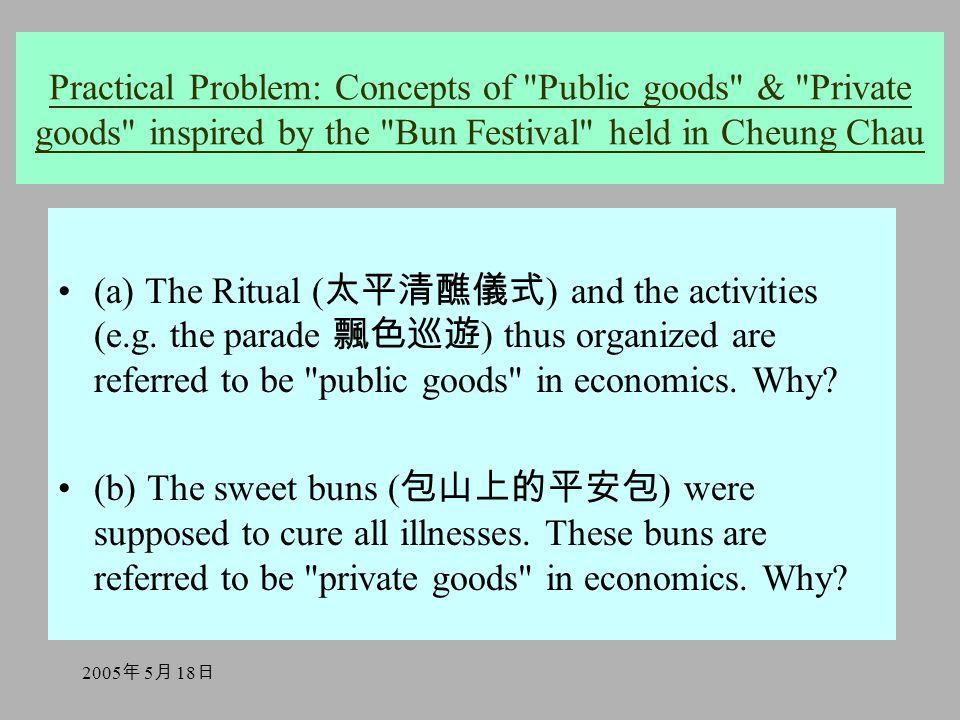 2005 年 5 月 18 日 (a) The Ritual ( 太平清醮儀式 ) and the activities (e.g.