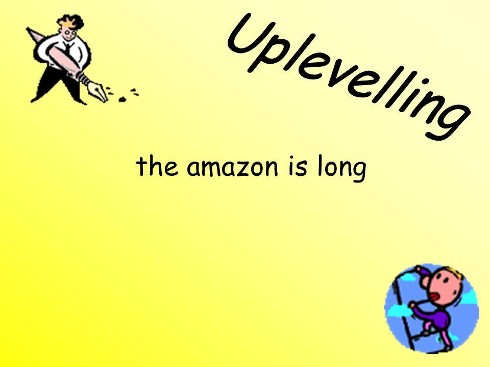 the amazon is long