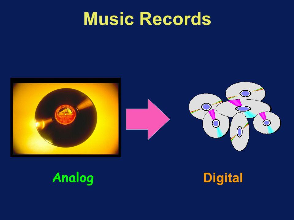 Music Records Analog Digital