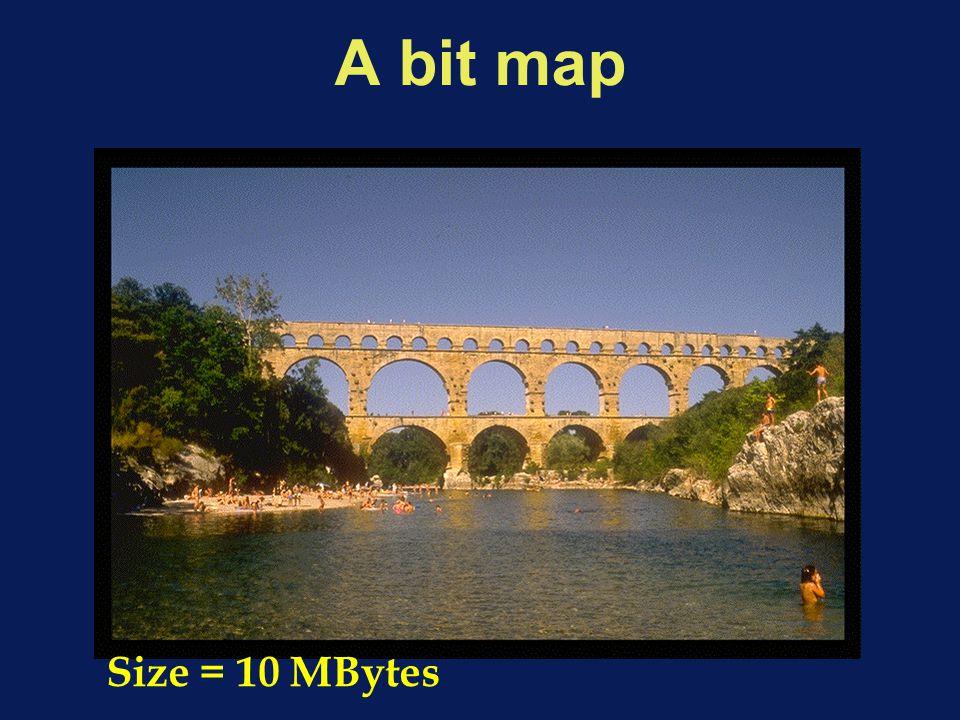 A bit map Size = 10 MBytes