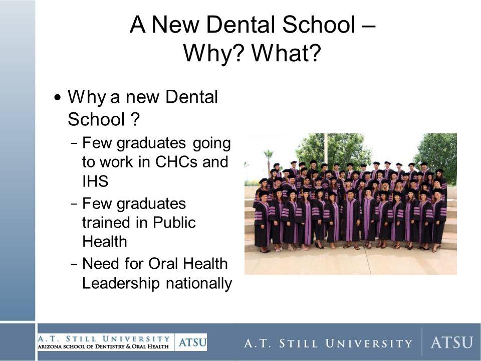 Why a new Dental School .