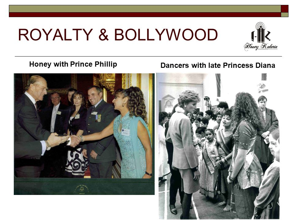 ROYALTY & BOLLYWOOD Honey with Prince Phillip Dancers with late Princess Diana