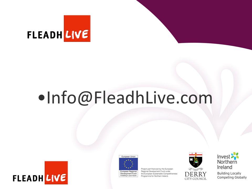 Info@FleadhLive.com