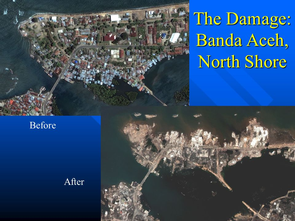 The Damage: Banda Aceh, North Shore After Before