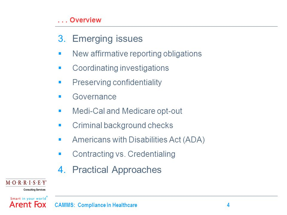 CAMMS: Compliance in Healthcare4...