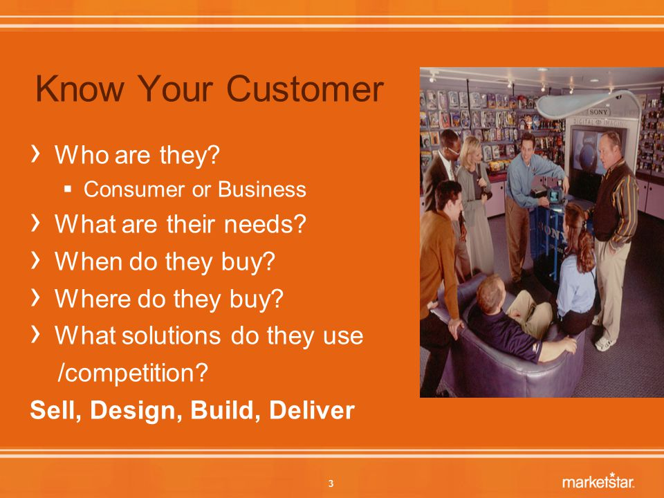 3 Know Your Customer › Who are they.  Consumer or Business › What are their needs.