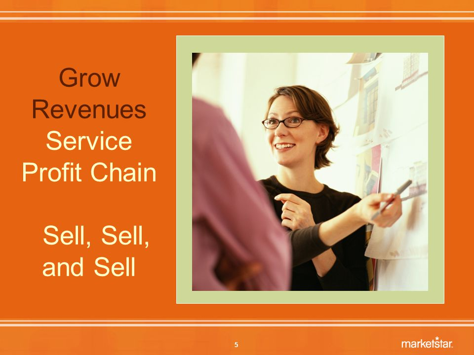 5 Grow Revenues Service Profit Chain Sell, Sell, and Sell