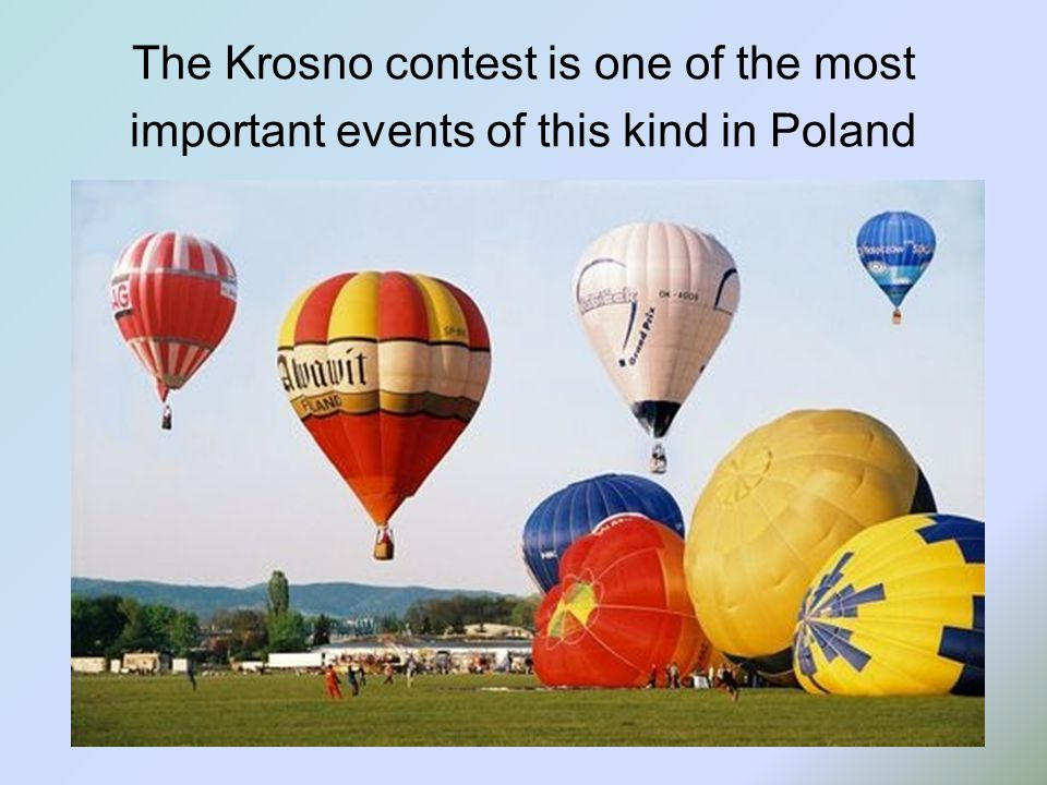 The Krosno contest is one of the most important events of this kind in Poland