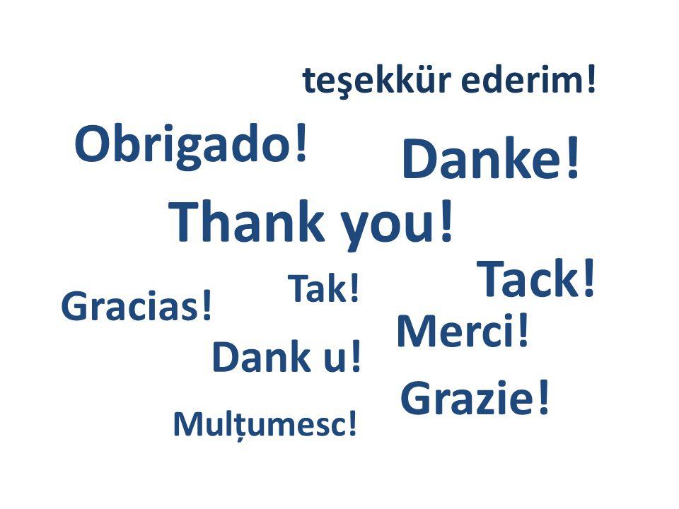 Thank you! Tak! Dank u! Danke! Merci! Obrigado! Gracias! Grazie! Tack! Mulțumesc! teşekkür ederim!