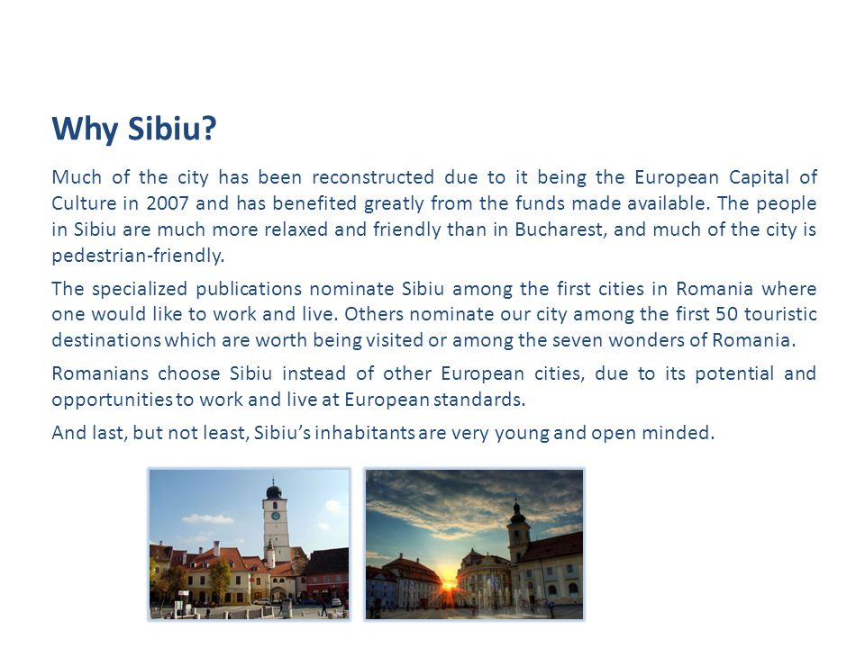 Much of the city has been reconstructed due to it being the European Capital of Culture in 2007 and has benefited greatly from the funds made available.