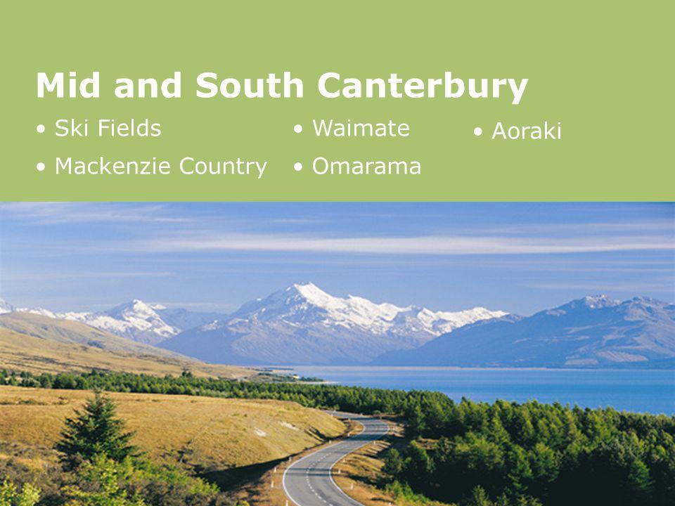 Mid and South Canterbury Ski Fields Mackenzie Country Waimate Omarama Aoraki