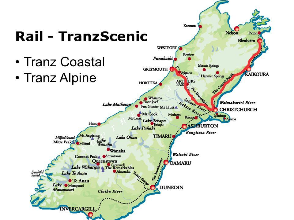 Tranz Coastal Tranz Alpine Rail - TranzScenic