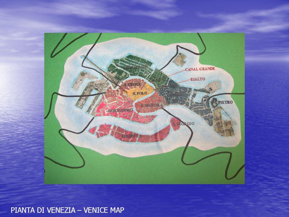 PIANTA DI VENEZIA – VENICE MAP