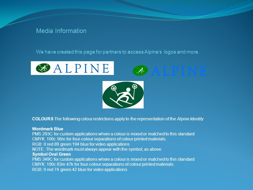Media Information We have created this page for partners to access Alpine's logos and more.
