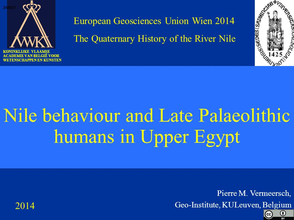Nile behaviour and Late Palaeolithic humans in Upper Egypt Pierre M.