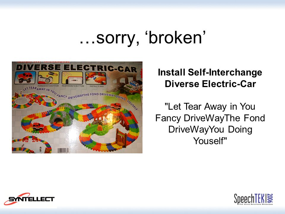 …sorry, 'broken' Install Self-Interchange Diverse Electric-Car