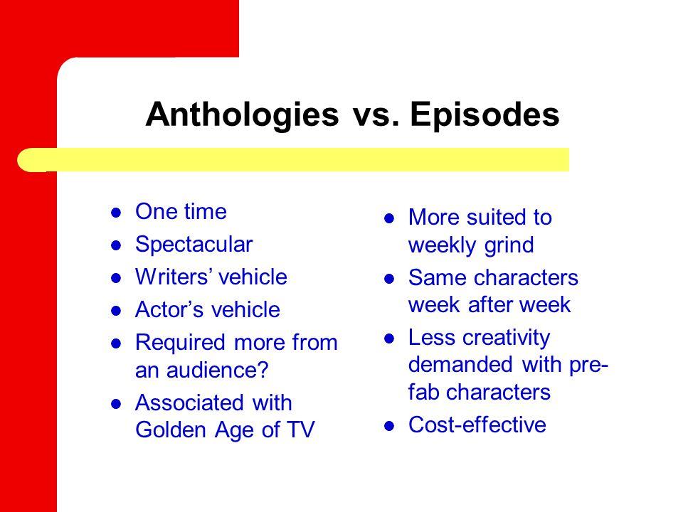 Anthologies vs.