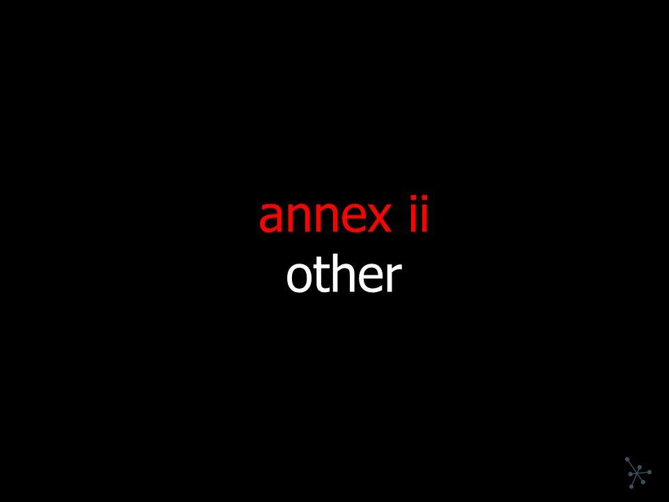 annex ii other