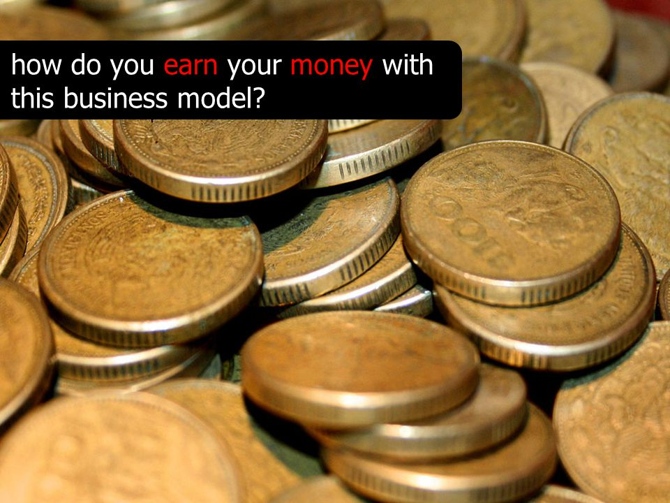 how do you earn your money with this business model