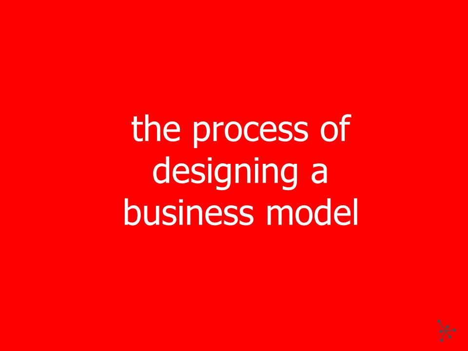 the process of designing a business model