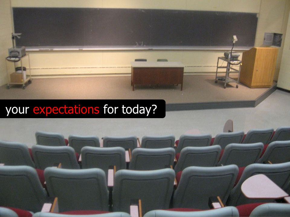 your expectations for today?
