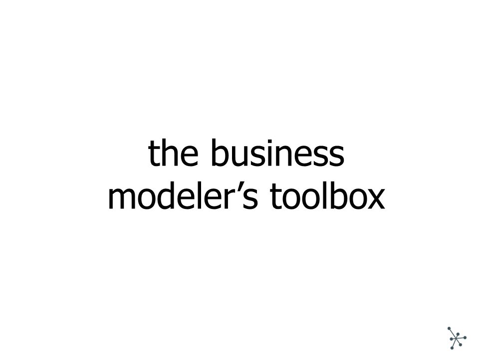 the business modeler's toolbox
