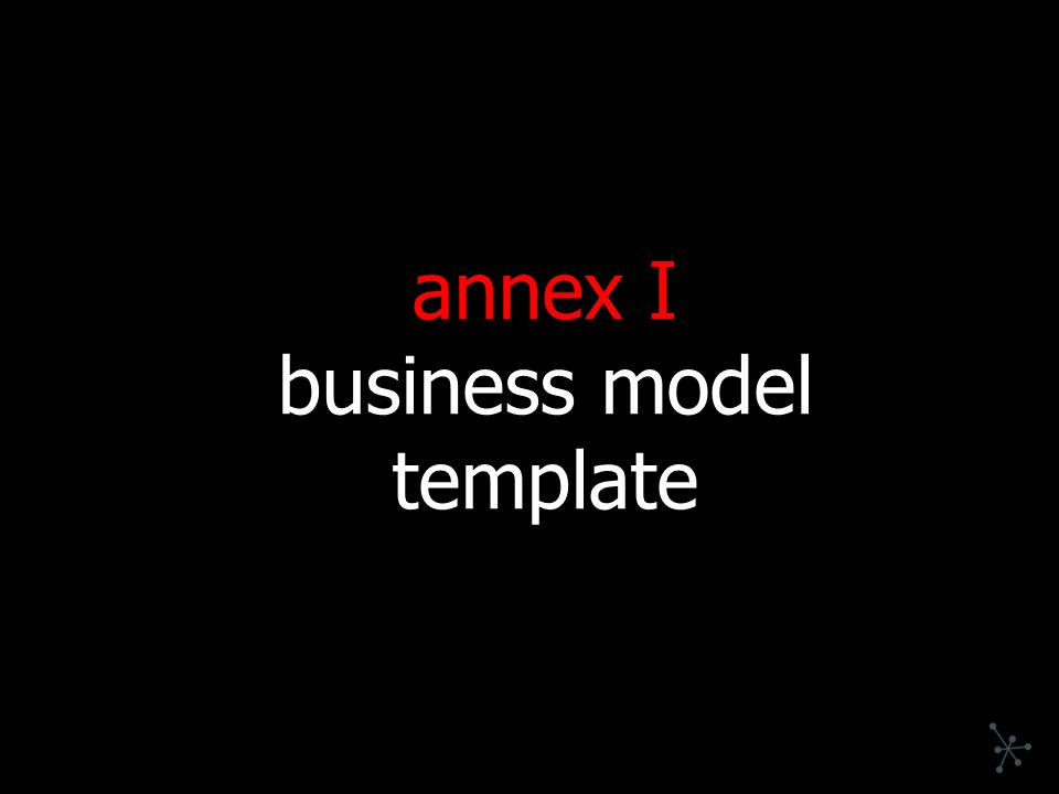 annex I business model template
