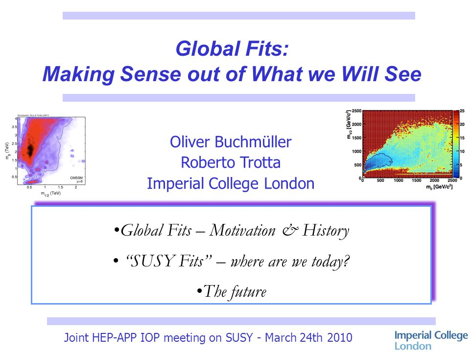 Joint HEP-APP IOP meeting on SUSY - March 24th 2010 List of Implemented Observables