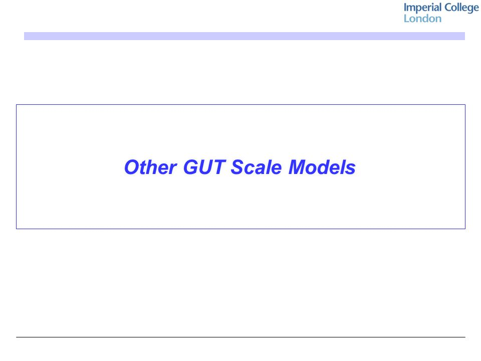 Other GUT Scale Models