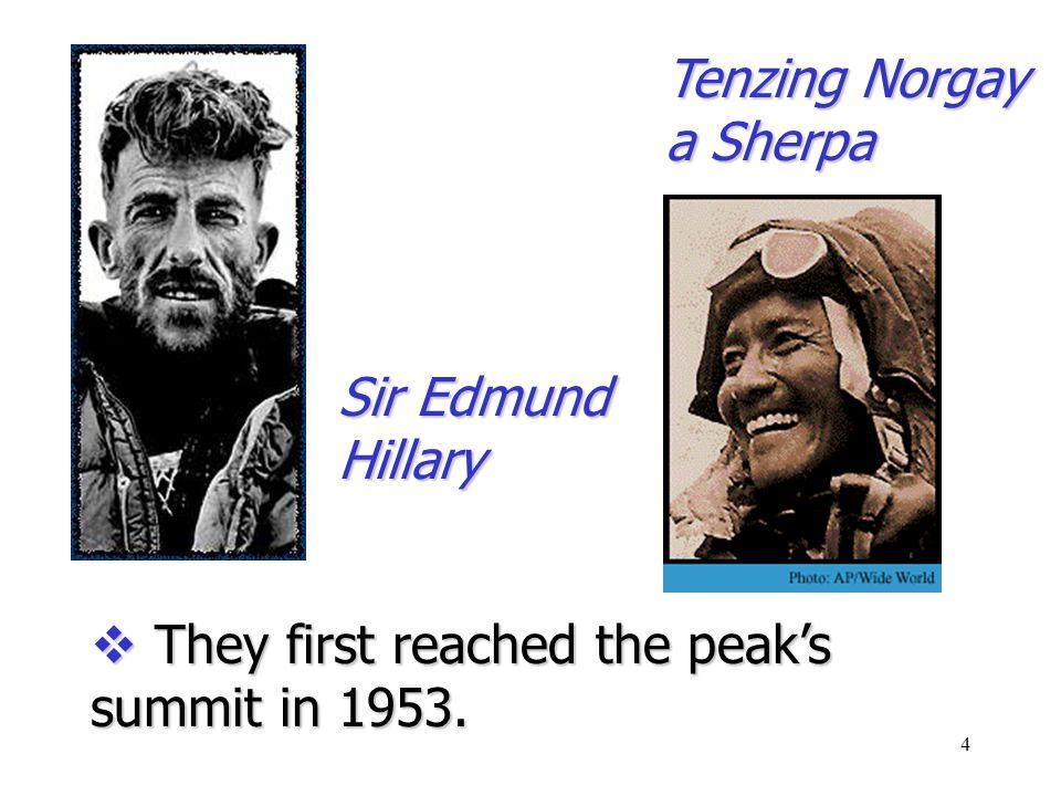 3  It measures 29,029 feet (8844.43 meters).  The mountain is still growing.