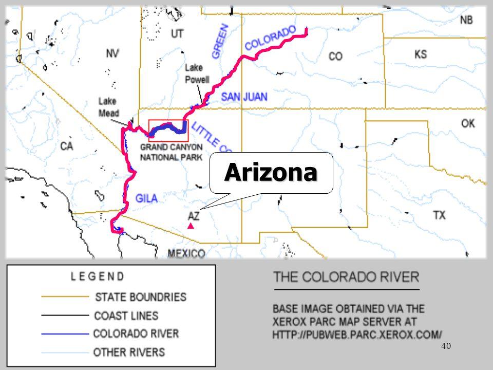 39 ▲ created  The Colorado River flows through the canyon.