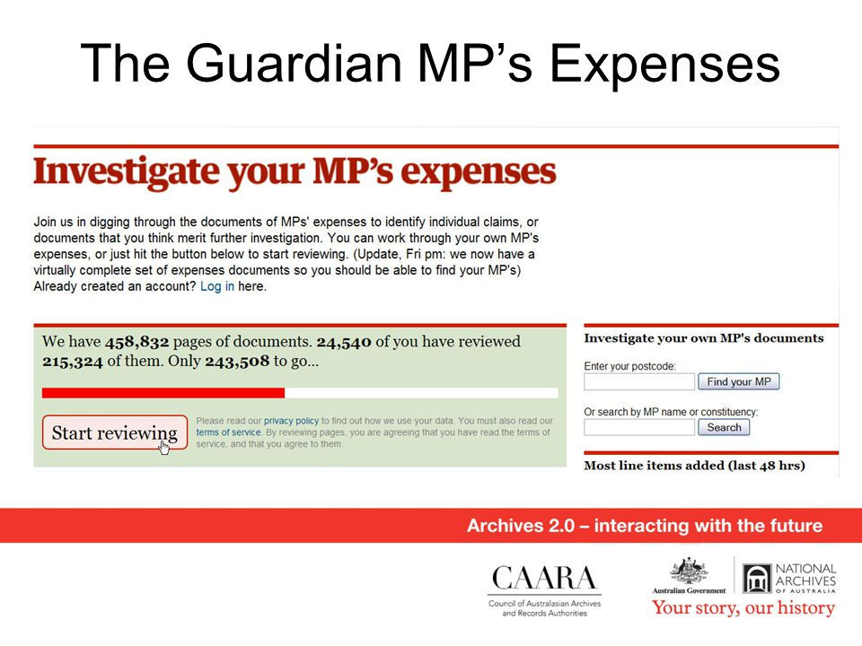 The Guardian MP's Expenses