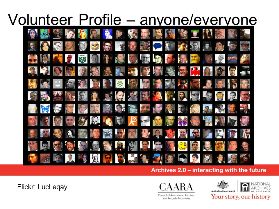 Volunteer Profile – anyone/everyone Flickr: LucLeqay
