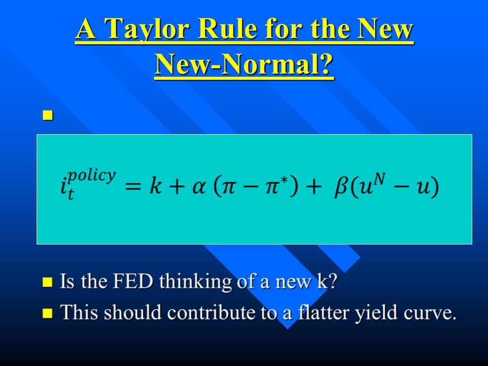 A Taylor Rule for the New New-Normal n