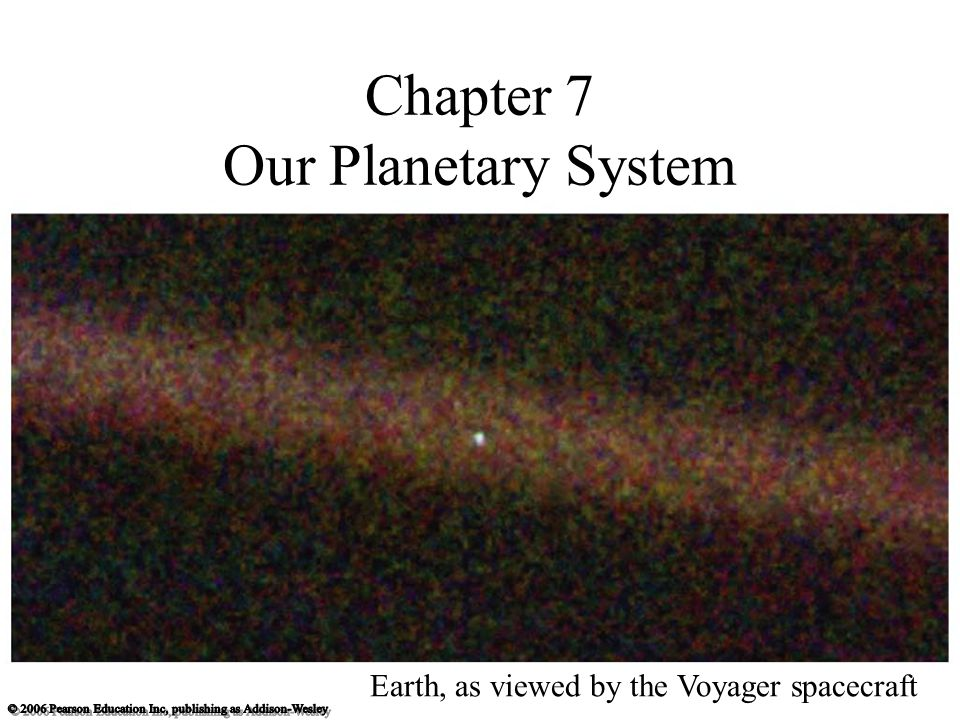 Chapter 7 Our Planetary System Earth, as viewed by the Voyager spacecraft