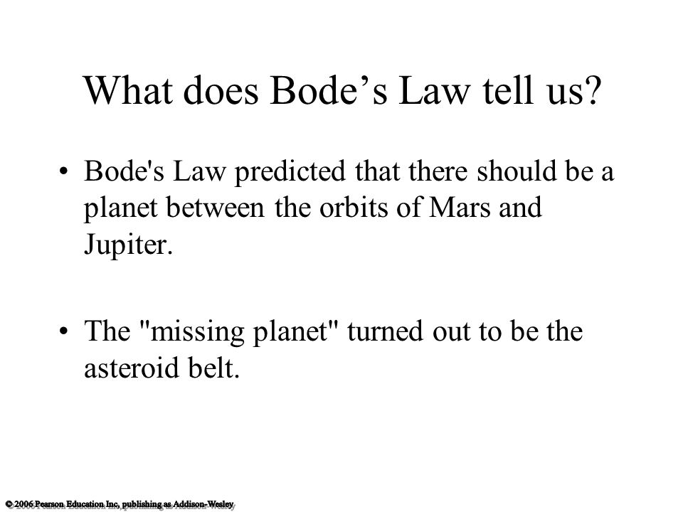 What does Bode's Law tell us.