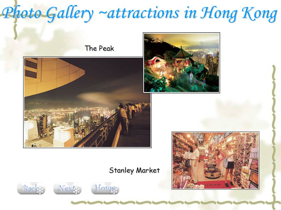 The Peak Stanley Market Photo Gallery ~attractions in Hong Kong