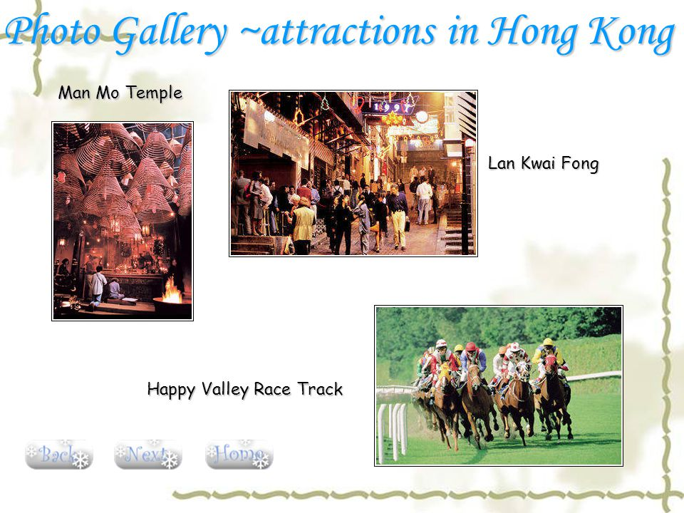 Man Mo Temple Lan Kwai Fong Happy Valley Race Track Photo Gallery ~attractions in Hong Kong