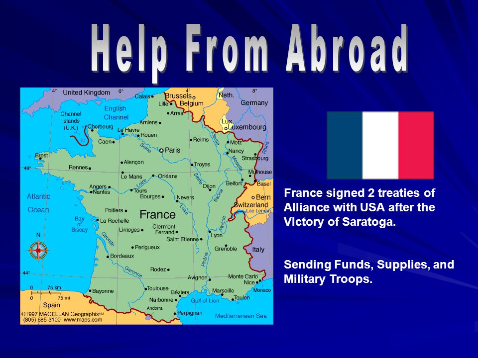 France signed 2 treaties of Alliance with USA after the Victory of Saratoga.