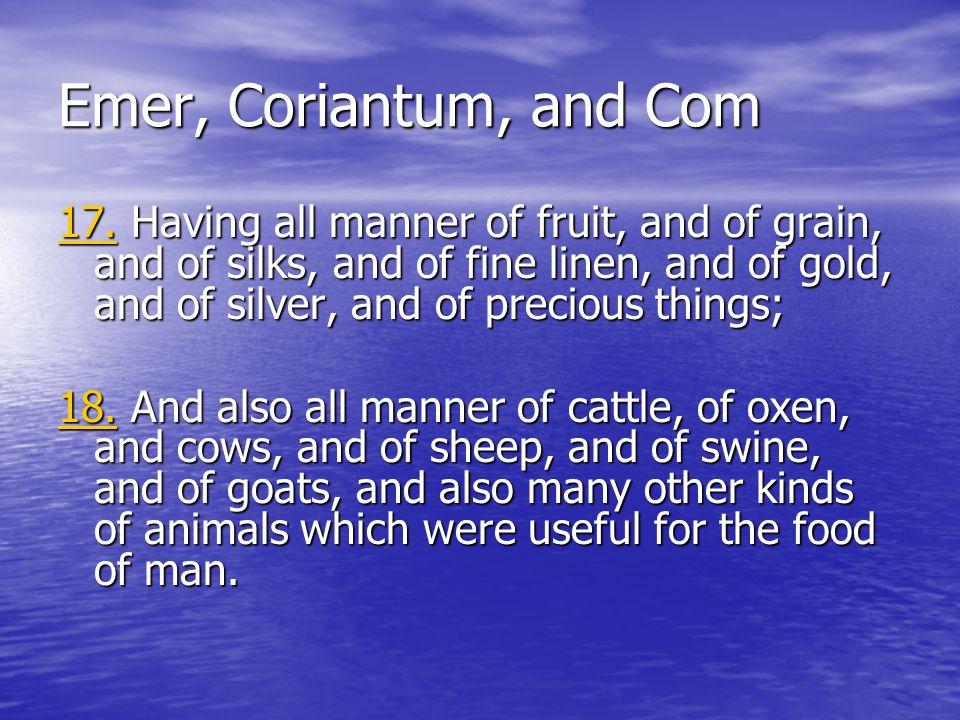 Emer, Coriantum, and Com 17.