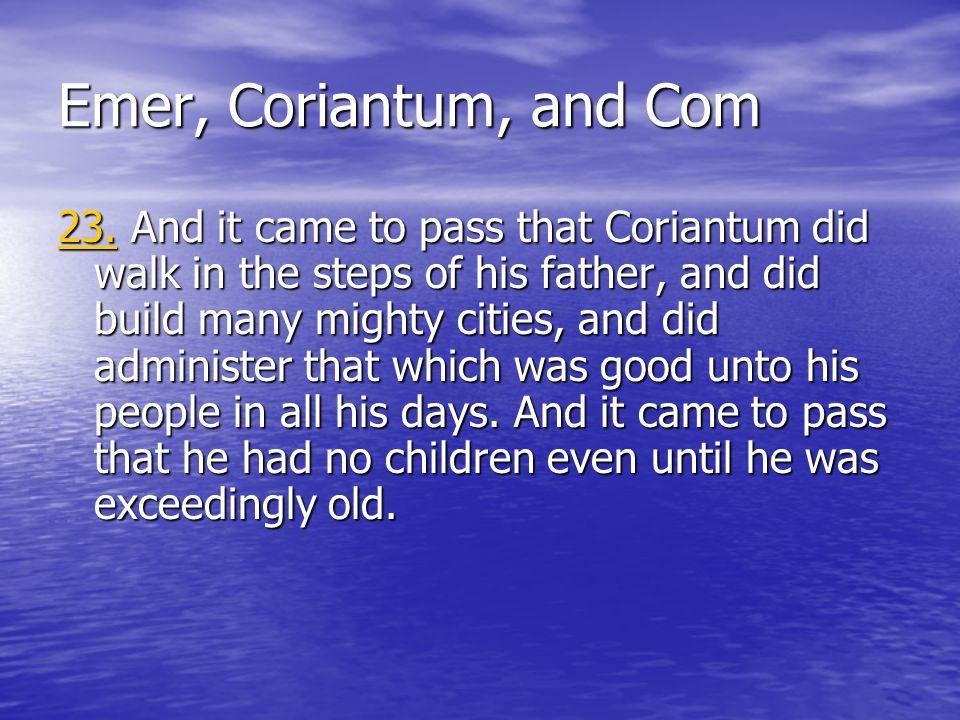 Emer, Coriantum, and Com 23.