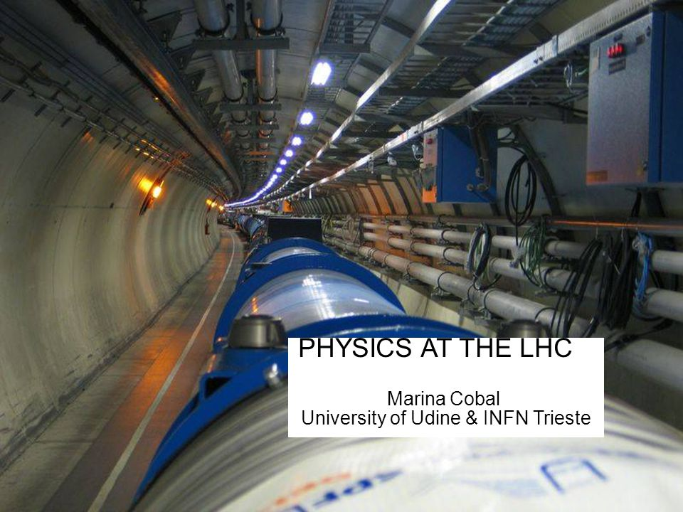 1 PHYSICS AT THE LHC Marina Cobal University of Udine & INFN Trieste